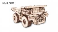 Деревянный конструктор 3D Belaz 75600 (Белаз 75600)