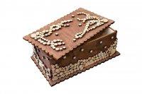 Шкатулка декоративная с мозаикой