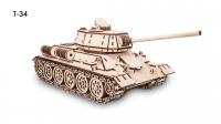 Деревянный конструктор 3D Tank T34 (Танк Т34)