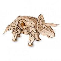 Деревянный конструктор 3D Triceratops (Трицератопс)