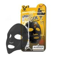 Очищающая тканевая маска Elizavecca для лица с порошком древесного угля Black Charcoal Honey Deep Power Ringer Mask Pack 23мл