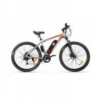 Электровелосипед Eltreco XT 600 (Серо-оранжевый)