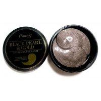Патчи для глаз Esthetic House Черный жемчуг и золото Black Pearl & Gold Hydrogel Eye Patch 60шт