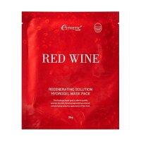 Гидрогелевая маска для лица Esthetic House КРАСНОЕ ВИНО Red Wine Regenerating Solution Hydrogel Mask Pack, 5 шт