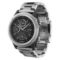 Часы Garmin Fenix 3 HR серебряный с титановым браслетом