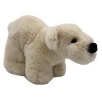 Игрушка мягкая Geoluk Полярный Мишка Бун из натурального кроличьего меха 30*20*16 см