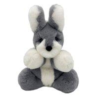 Игрушка мягкая Geoluk Зайка Марпл сидячий из натурального кроличьего меха 33*22*20 см