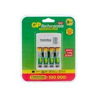 Набор из зарядного устройства GP с USB и 4 аккумулятора 1000 мАч (ААА) + провод micro USB (GP 100AAAHC/CPB-2CR4)