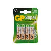 Батарейки GP Super Alkaline 15A-2CR4 AA (LR06), 4 штуки