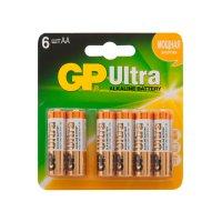 Батарейка GP Ultra Alkaline АА (LR6) 6 шт. (15АU4/2-CR6)