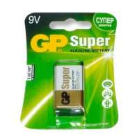 Батарейка GP Super Alkaline 9V Крона, 1 шт.