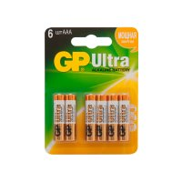 Набор алкалиновых батареек GP Ultra Alkaline АAA (LR03),  6 шт.