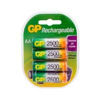 Аккумуляторы GP, 4 штуки ёмкостью 2500 мАч АА (250AAHC-2DECRC4)