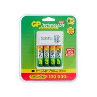 Универсальное зарядное устройство с USB для аккумуляторов GP и 4 шт АКБ 2700 мАч (АА) + провод micro USB (GP 270AAHC/CPB-2CR4)