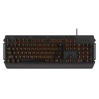 Игровая мембранная клавиатура HIPER GK-5 PALADIN Black USB (Механика, проводная, 104кл, металл, anti-ghosting, янтарная подсветка, кабель 1.8м)