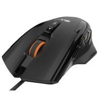 Игровая мышь HIPER SOLATRIS (QM-3) Black USB (10 800 dpi, регулировка веса, 12 кнопок, USB кабель 1.8м, черный)