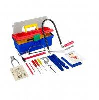 Пластиковый ящик с инструментами для работы по дереву с лобзиком Pebaro (640)