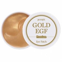 Гидрогелевые патчи Petitfee для глаз с золотыми частицами и фактором роста EGF Premium Gold & EGF Eye Patch 60шт