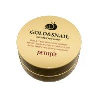 Гидрогелевые патчи Petitfee для глаз с золотыми частицами и фильтратом муцина улитки Gold & Snail Hydrogel Eye Patch 60шт