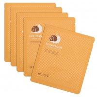 Гидрогелевая маска (набор) для лица Petitfee с золотом и экстрактом слизи улитки Gold & Snail Hydrogel Mask Pack 5шт