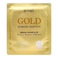Гидрогелевая маска для лица Petitfee с микрочастицами коллоидного золота Gold Hydrogel Mask Pack 30мл