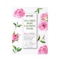 Набор Тканевая маска для лица PETITFEE Tea Tree Rose Calming Mask, 10 шт