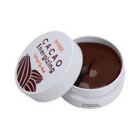 Гидрогелевые Патчи Petitfee для глаз с экстрактом какао бобов Cacao Energizing Hydrogel Eye Mask 60шт
