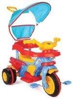 """Трехколесный велосипед Pilsan """"Best"""" с родительской ручкой  сине-красно-желтый"""