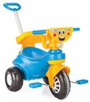 """Трехколесный велосипед Pilsan """"Happy"""" с родительской ручкой  сине-желтый"""