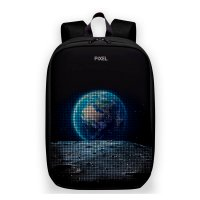 Рюкзак PIXEL MAX Black Moon чёрный (LED-экран 25*25 px, 16,5 млн цветов, 20 л., полиэстер)
