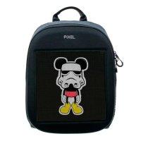 Рюкзак PIXEL One Grafit чёрно-серый (LED-экран 25*25 px, 16,5 млн цветов, 20 л., полиэстер)