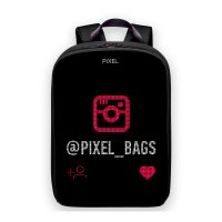 Рюкзак PIXEL PLUS Black Moon чёрный (LED-экран 25*25 px, 16,5 млн цветов, 16 л., полиэстер)