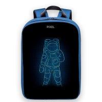 Рюкзак PIXEL PLUS Indigo синий (LED-экран 25*25 px, 16,5 млн цветов, 16 л., полиэстер)