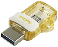 Флеш-накопитель Sandisk SDDD3-064G Ultra Dual Drive White-Gold