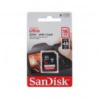 Карта памяти SanDisk Ultra SDHC 16GB 48MB/s Class 10 UHS-I
