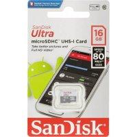 Карта памяти SanDisk Ultra  microSDHC 16GB 80MB/s Class 10