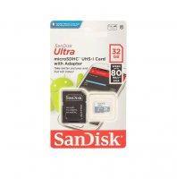 Карта памяти SanDisk Ultra microSDXC 64GB 80MB/s Class 10 + SD Adapter