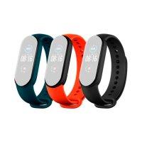 Ремешок д/Mi Smart Band 5 Strap (3-Pack) Black/Orange/Teal (BHR4639GL)