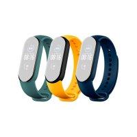 Ремешок д/Mi Smart Band 5 Strap (3-Pack) Navy Blue/Yellow/Mint Green (BHR4640GL)