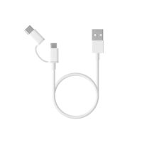 Кабель переходник Xiaomi Mi 2-in-1 USB Cable Micro USB to Type C (100cm)